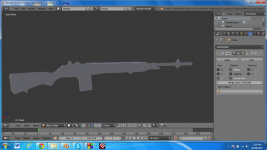 First gun model 3D view