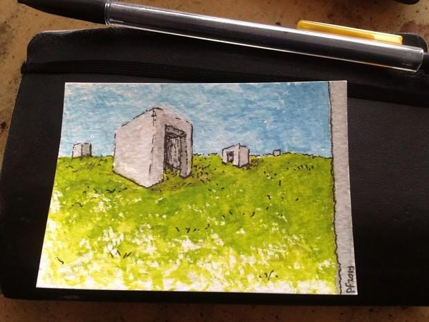 "2""x3"" Watercolor & Ink Sketch"