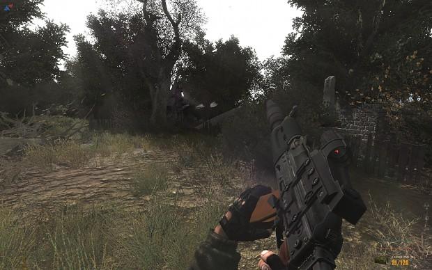 Ak-74u SD ,collimator sight, synth