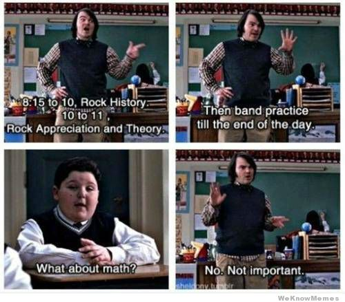 Maths aren't important when you learn Rock