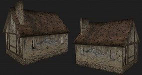 3ds Max modeling: World War 2 French Cottage House