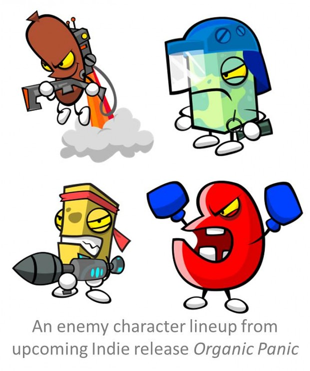 Organic Panic Concept Enemy Characters