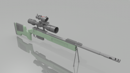 M40A5 w/ Telescopic Scope and ACOG Sight