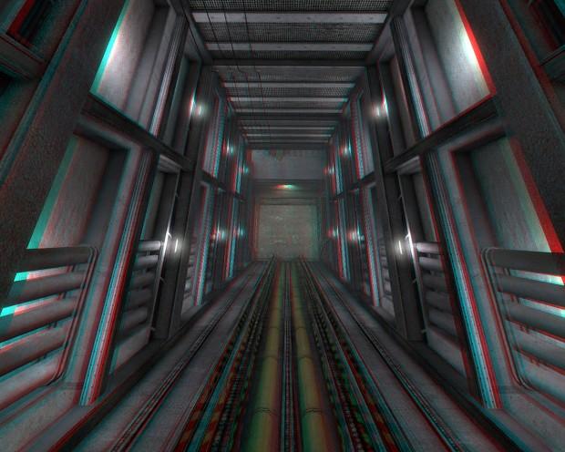 """Описание станции """"Mars-2"""" (США) HL_Black_Mesa_3D13-Lambda_Freight_Elevator_Shaft-Anaglyph"""