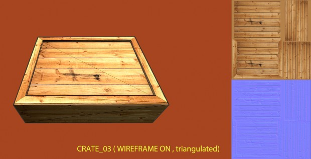 Lowpoly wooden crate