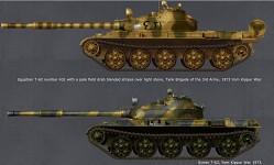 Egyptian & Syrian T-62 1973