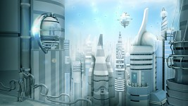 Futuristic city concept