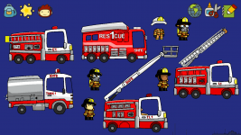 Custom fire trucks in Scribblenauts Unlimited