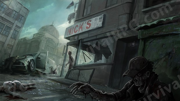 Commissioned Zombie Concept Art