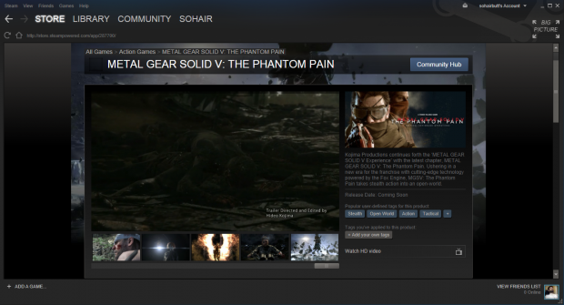 Metal Gear Solid V on Steam!