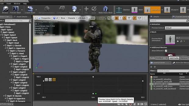 Blendspace walk animation demo