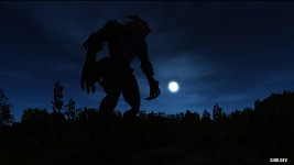 Werewolf with the full moon.. loooooking creepy!