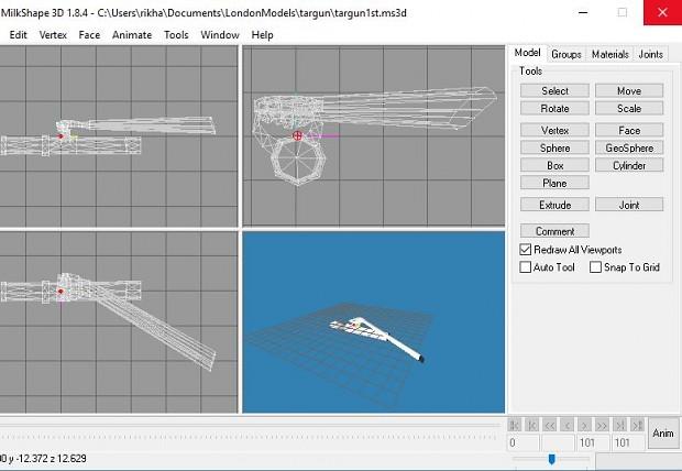 weapon model in milkshape