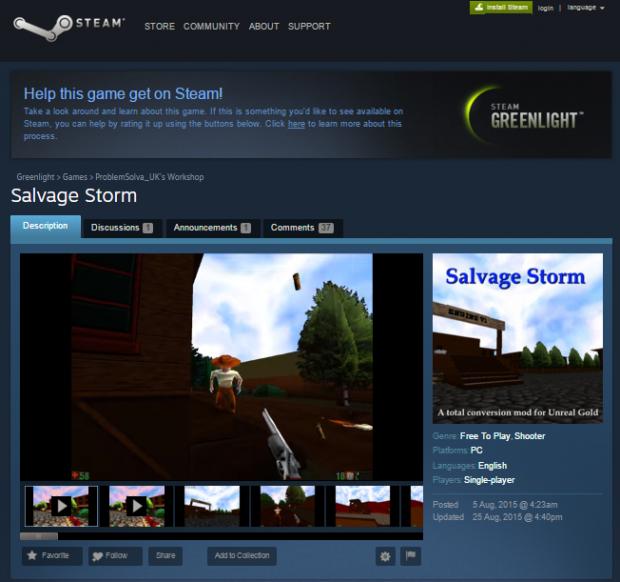 Salvage Storm on Greenlight