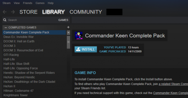 My Steam Library With Completed Games