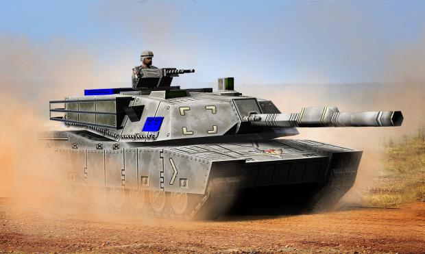 TEOD Abrams Tank render