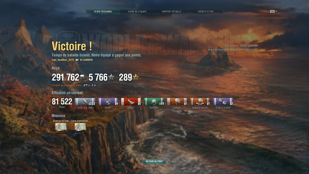 Leander steals victory from the claws of of tier 8 Battleships