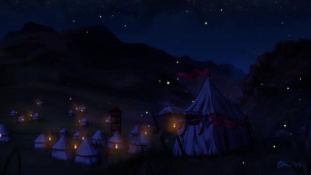 Battle Camp Scene