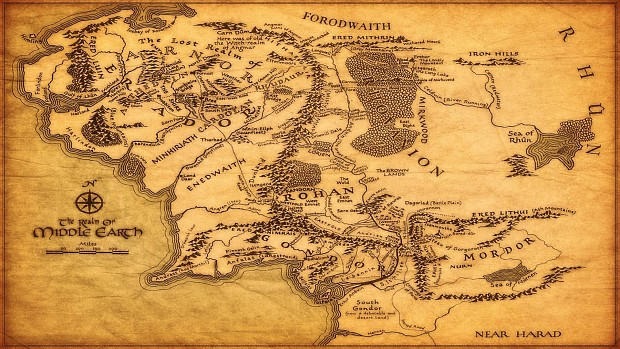 Middle Earth Full Map