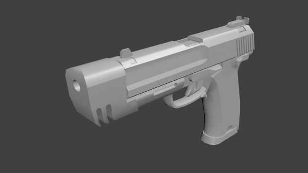 Half Life 2 Pistol Remake (Low Poly)