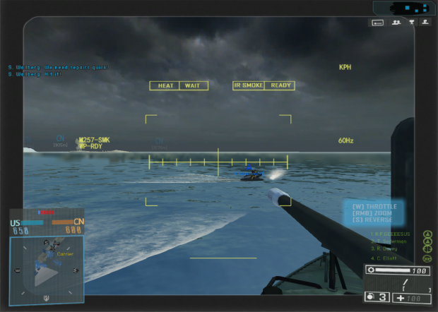 battlefield 4 attack boat HUD 1