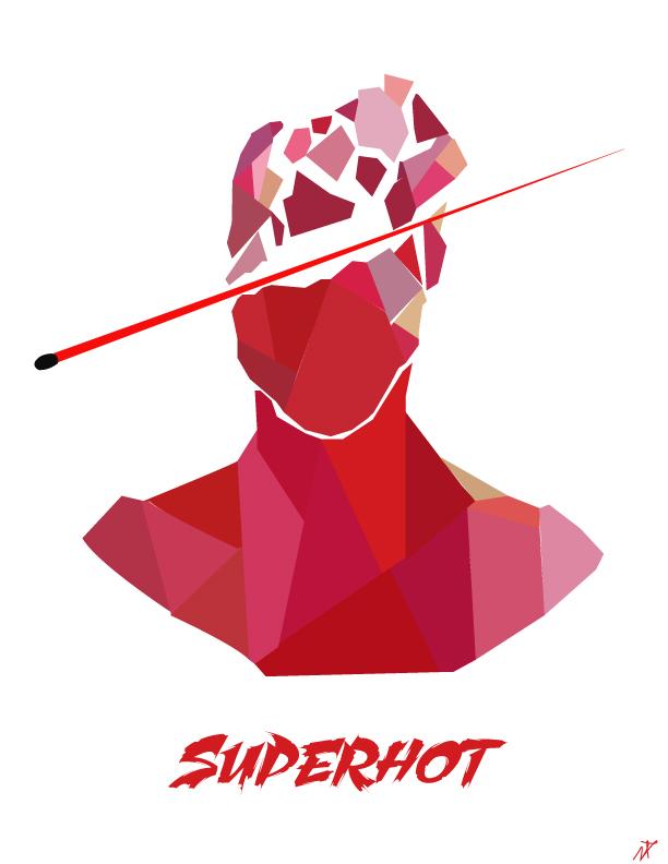 Superhot Minimalist Poster
