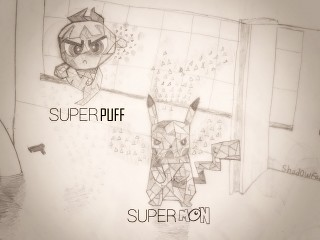 SUPERPUFF & SUPERMON BY Shad0wFade