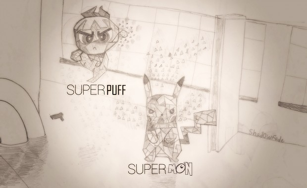 SUPERPUFF & SUPERMON BY Shad0wFade