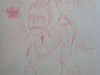 hello neighbor sketch  by aidadoesdoodles dasud7o
