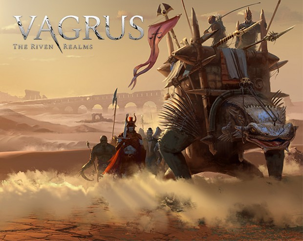 Vagrus - The Riven Realms - Title screen