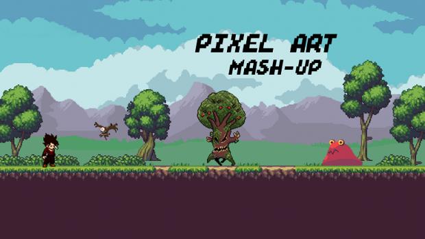 Pixel Art Mash-Up Promo Image