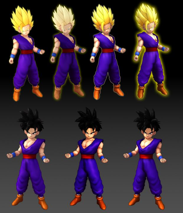 PoTW: Normal & Super Saiyan 2 Gohan Renders