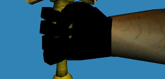 fixed the arm
