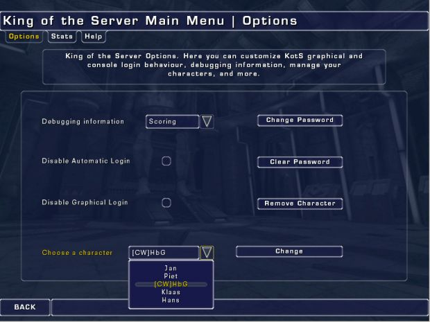 New Ingame Menu image - King Of The Server mod for Unreal Tournament