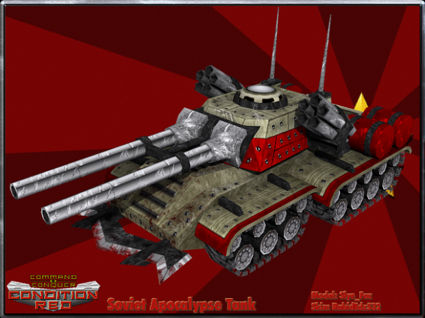 Soviet Appocalypse Tank image - CnC: Condition Red mod for ... Red Alert 3 Tank