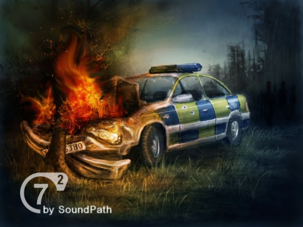 Police car-crashed image - Seven: Episodes (Seven hour war ... Creepy Pictures