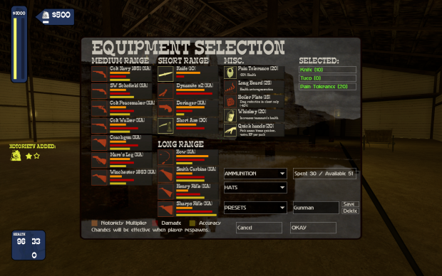 New feature: custom equipment cost