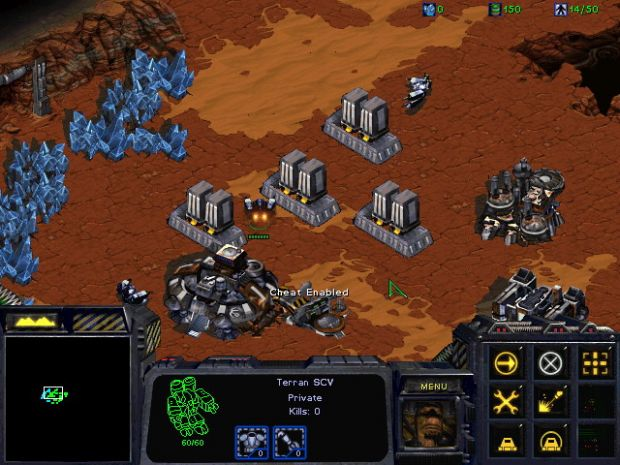 starcraft how to build supply depot
