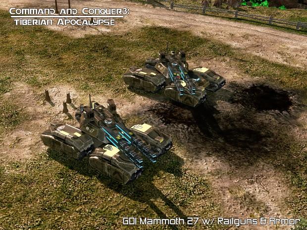 GDI Mammoth 27 w/ Railguns & Armor