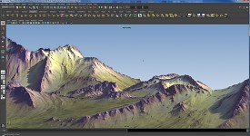 Terrain work in maya