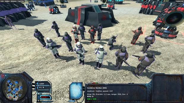Combine infantry team color update