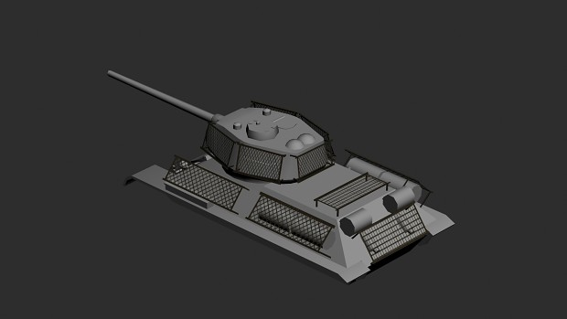 T-34/85 with cage armour