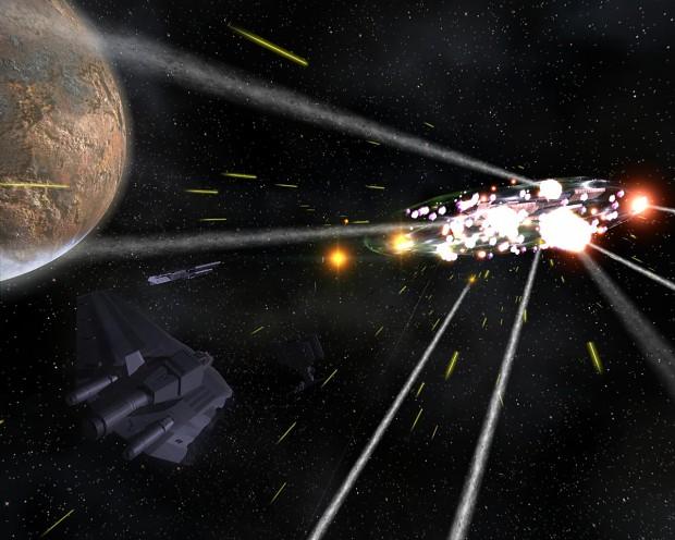 Raging Battle (& fighter wreck experiment)