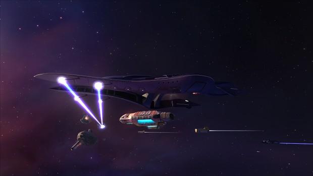 DAS-class Corvette in action