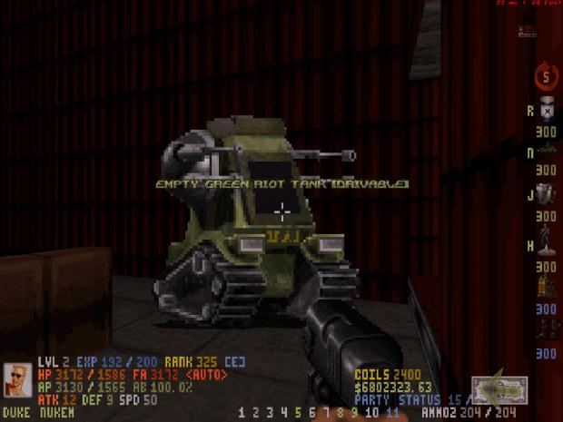Screenshot of an Empty Riot Tank