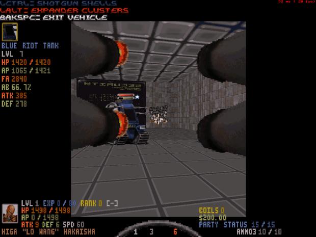 Blue Riot Tank Shooting into a Mirror :P