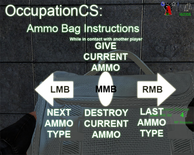 How to Use the Ammobag Ingame