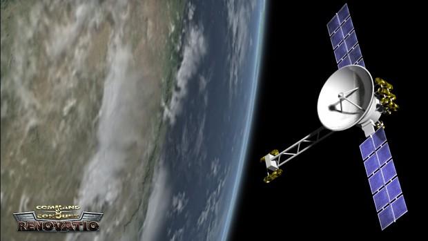 The Allied intelligence satellite