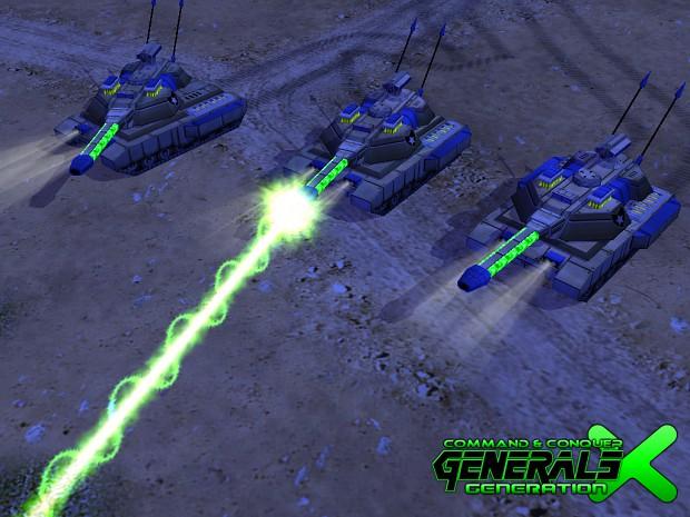 Laser Tanks Ingame