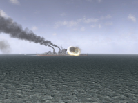Ship exhaust and cannon effects